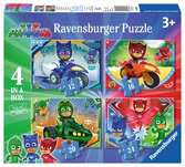 PJ Masks 4 in a Box Puzzles;Children s Puzzles - Ravensburger