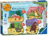 The Gruffalo Four Shaped Puzzles Puzzles;Children s Puzzles - Ravensburger