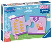Peppa Pig My First Match and Count Puzzles, 9 x2pc Puzzles;Children s Puzzles - Ravensburger