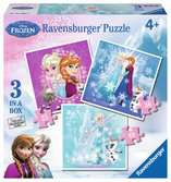 FROZEN-WINTER MAGIC 3 W 1 Puzzle;Puzzle dla dzieci - Ravensburger