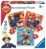 Požárník Sam 3 v 1, 25/36/49 dílků 2D Puzzle;Dětské puzzle - Ravensburger