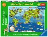 Animals of the World Giant Floor Puzzle, 60pc Puzzles;Children s Puzzles - Ravensburger