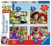 Toy Story příběh hraček 3x49 dílků 2D Puzzle;Dětské puzzle - Ravensburger