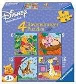 Winnie, Knorretje, Teigetje en Konijn Puzzels;Puzzels voor kinderen - Ravensburger