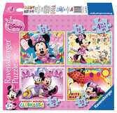 Myška Minnie 4 v 1 2D Puzzle;Dětské puzzle - Ravensburger