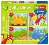 My First Puzzle, Jolly Dinos (2, 3, 4 & 5pc) Puzzles;Children s Puzzles - Ravensburger
