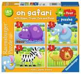 Ravensburger On Safari, My First Jigsaw Puzzles (2, 3, 4 & 5pc)  Toddler Toy for Kids 18 Months and Up Puzzles;Children s Puzzles - Ravensburger