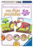 ZWIERZĘTA NA FARMIE PUZZLE 9X2EL Puzzle;Puzzle dla dzieci - Ravensburger