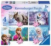 Disney Frozen 4 in Box Puzzles;Children s Puzzles - Ravensburger
