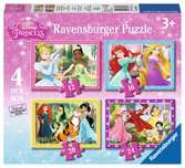Disney Princess 4 in a box Puzzles;Children s Puzzles - Ravensburger
