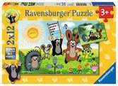 NAUKA ZABAWY Z KRECIKIEM 2X12 Puzzle;Puzzle dla dzieci - Ravensburger