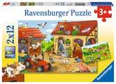 Puzzles 2x12 p - Le travail à la ferme Puzzle;Puzzle enfant - Ravensburger