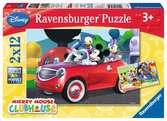Puzzles 2x12 p - Mickey, Minnie et leurs amis / Disney Puzzle;Puzzle enfant - Ravensburger