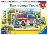 POLICJA I STRAŻ 2X12 EL Puzzle;Puzzle dla dzieci - Ravensburger
