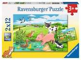 Baby Farm Animals         2x12p Puslespil;Puslespil for børn - Ravensburger