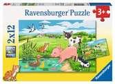 Mláďata na farmě 2x12 dílků 2D Puzzle;Dětské puzzle - Ravensburger