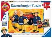 Puzzles 2x12 p - Sam en intervention / Sam le pompier Puzzle;Puzzle enfant - Ravensburger