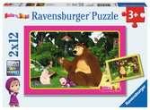 Jeu en forêt / Masha et Michka Puzzle;Puzzle enfant - Ravensburger