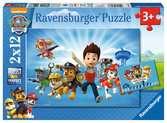Ryder a Tlapkova Patrola 2x12 dílků 2D Puzzle;Dětské puzzle - Ravensburger