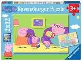 Puzzles 2x12 p - A la maison / Peppa pig Puzzle;Puzzle enfant - Ravensburger