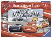 Puzzles 2x12 p - Piston Cup / Disney Cars 3 Puzzle;Puzzle enfant - Ravensburger