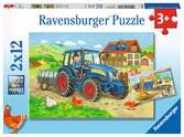 Puzzles 2x12 p - Chantier et ferme Puzzle;Puzzles enfants - Ravensburger