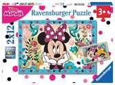 Puzzle 2x12 p - Des fleurs pour Minnie Puzzle;Puzzle enfant - Ravensburger