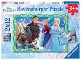 Puzzles 2x12 p - Jeux d hiver / Disney La Reine des Neiges Puzzle;Puzzles enfants - Ravensburger