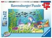 Puzzles 2x12 p - Au fond de l océan Puzzle;Puzzles enfants - Ravensburger