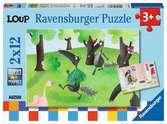Puzzles 2x12 p - Le Loup qui voulait changer de couleur Puzzle;Puzzle enfant - Ravensburger