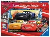 Puzzle 2x24 p - Flash, Cruz et Jackson / Cars 3 Puzzle;Puzzles enfants - Ravensburger
