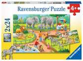A Day at the Zoo 2x24p Puslespil;Puslespil for børn - Ravensburger
