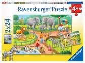 Een dag in de dierentuin Puzzels;Puzzels voor kinderen - Ravensburger