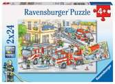 Hasiči 2x24 dílků 2D Puzzle;Dětské puzzle - Ravensburger