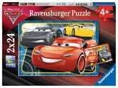 Puzzles 2x24 p - A l aventure avec Flash McQueen / Disney Cars 3 Puzzle;Puzzle enfant - Ravensburger