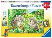 Puzzles 2x24 p - Mignons koalas et pandas Puzzles;Puzzles pour enfants - Ravensburger