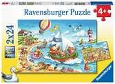 Prázdniny u moře 2x24 dílků 2D Puzzle;Dětské puzzle - Ravensburger