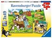 SŁODKIE PIESKI I KOTKI 3X49 EL Puzzle;Puzzle dla dzieci - Ravensburger