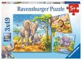 Puzzles 3x49 p - Les grands sauvages Puzzle;Puzzle enfant - Ravensburger