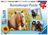 Liebe Pferde              3x49p Puslespil;Puslespil for børn - Ravensburger