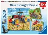 Zemědělské stroje 3x49 dílků 2D Puzzle;Dětské puzzle - Ravensburger