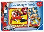 Power Rangers Dino Charge 3 x 49pc Puzzles;Children s Puzzles - Ravensburger