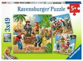 Adventure on the High Seas3x49p Puslespil;Puslespil for børn - Ravensburger