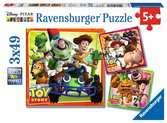 Toy Story historie hraček 3x49 dílků 2D Puzzle;Dětské puzzle - Ravensburger