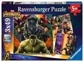 AVENGERS - WOJNA BEZ GRANIC 3X49EL Puzzle;Puzzle dla dzieci - Ravensburger