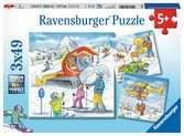 Pojďme lyžovat 3x49 dílků 2D Puzzle;Dětské puzzle - Ravensburger