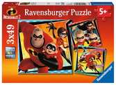 The Incredibles 2, 3x49pc Puslespil;Puslespil for børn - Ravensburger