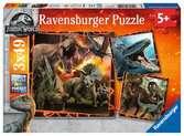 Puzzles 3x49 p - Instinct de chasseur / Jurassic World Puzzle;Puzzle enfant - Ravensburger