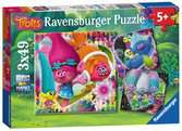 Trolls, 3x49pc Puzzles;Children s Puzzles - Ravensburger