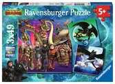 Puzzles 3x49 p - Apprivoiser les dragons / Dragons 3 Puzzle;Puzzle enfant - Ravensburger